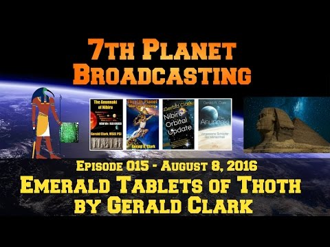 Emerald Tablets of Thoth with Scrolling Text and No Comments by Gerald Clark