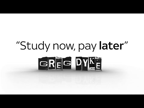 Greg Dyke: Study now, pay later
