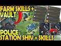 POLICE STATION SKILLS + SHIV - FARM VAULT + SKILLS - Last Day on Earth Survival Update 1 9 8