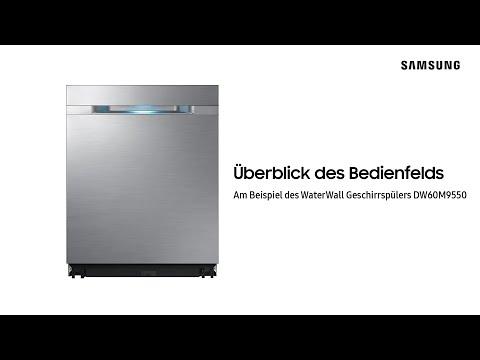 samsung-waterwall-geschirrspüler:-Überblick-des-bedienfelds