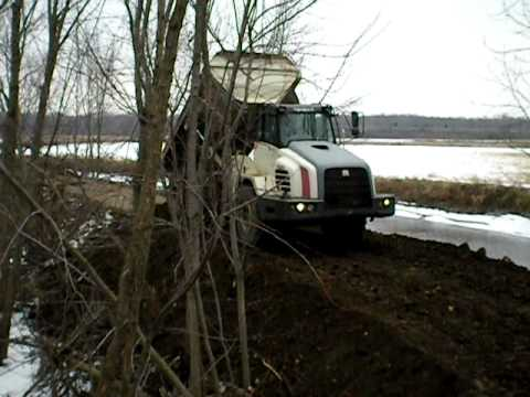 TA 25 terex off road truck dumping its load