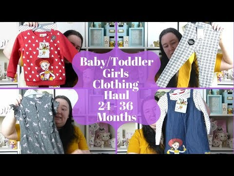 Baby /Toddler Girls Clothing Haul 24-36 Months - Primark & Next