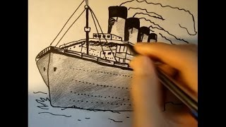 How to draw the Titanic in Pencil