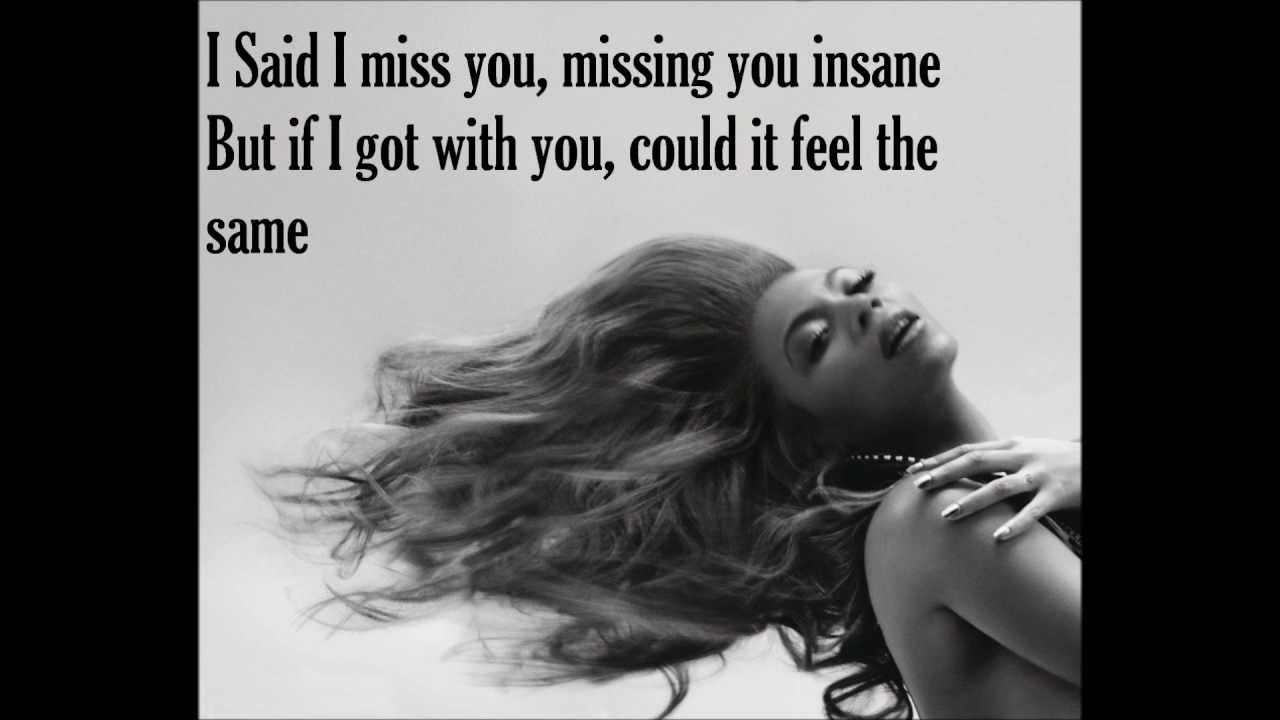 SADE - AND I MISS YOU LYRICS