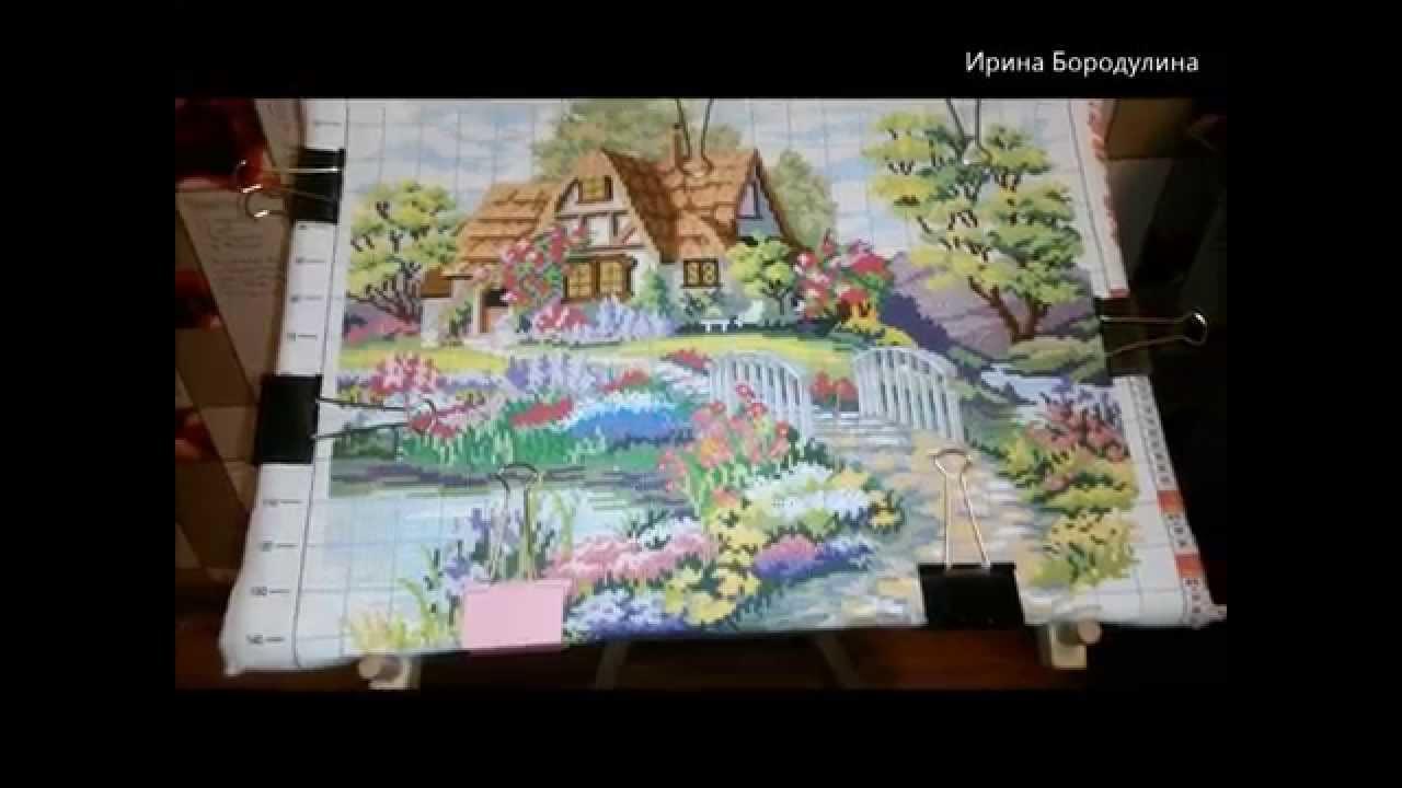 Китайская вышивка домики