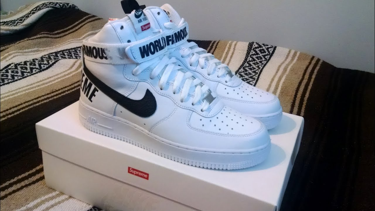 nike air force 1 supreme fake logo