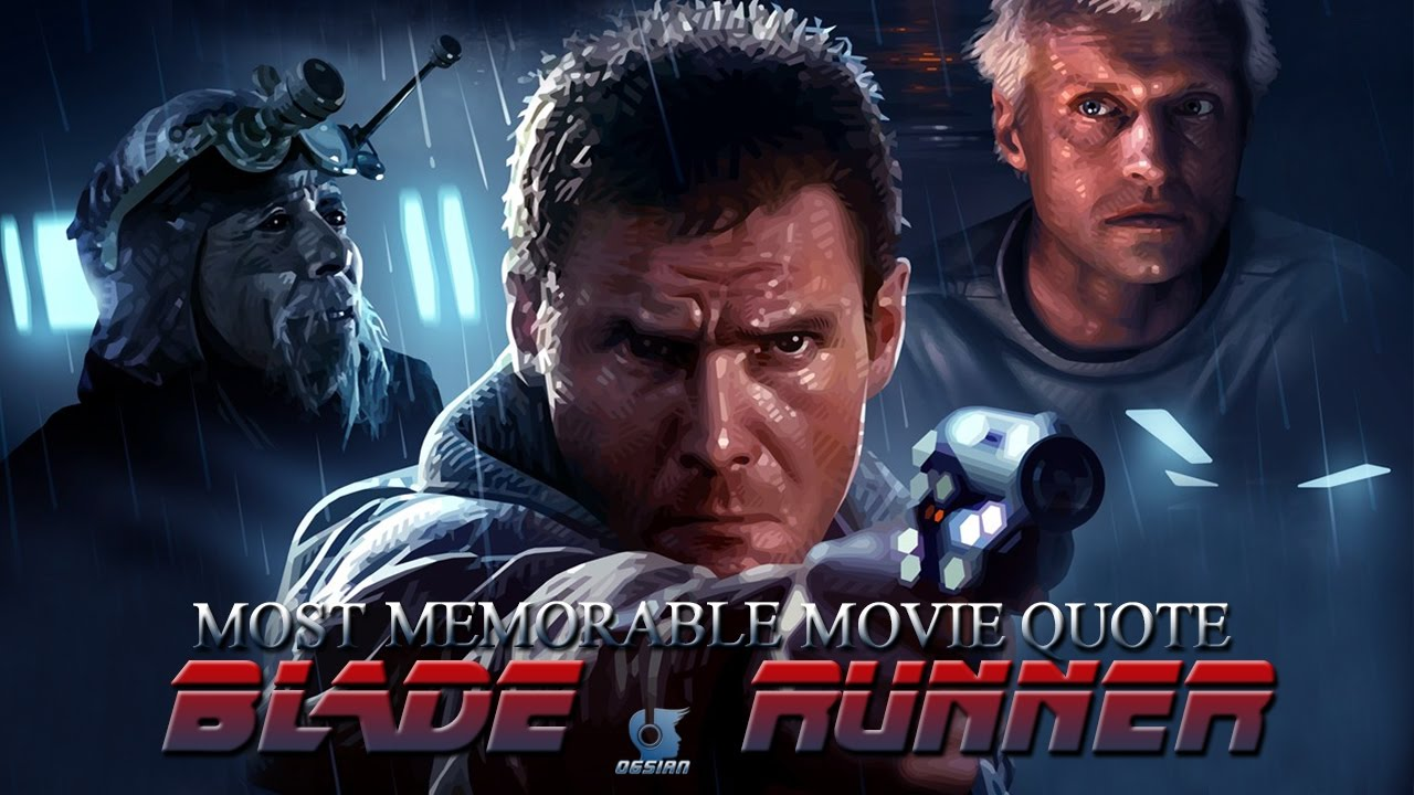 Tears In The Rain Most Memorable Quote From Blade Runner Youtube