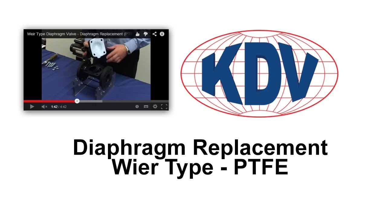 Diaphragm replacement weir type ptfe youtube diaphragm replacement weir type ptfe ccuart Images