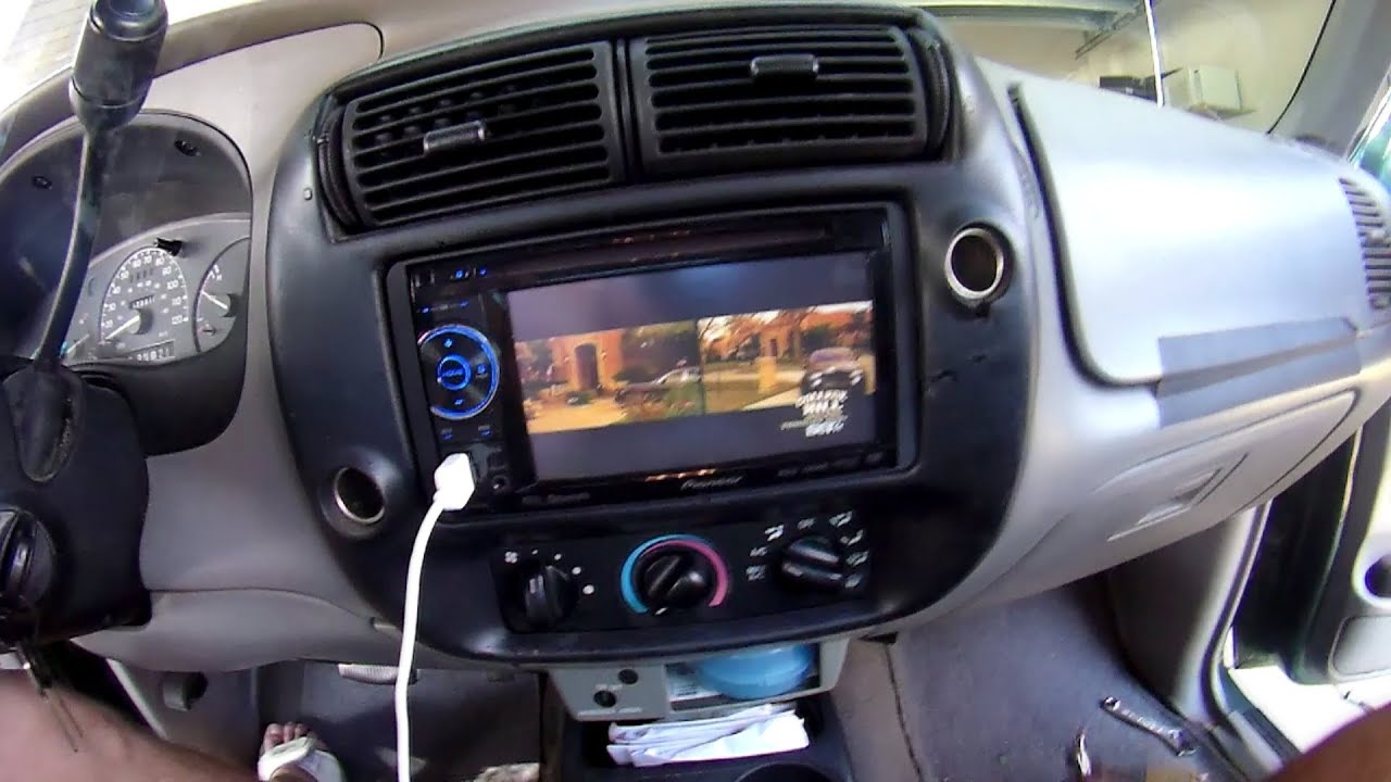 2000 Ford Ranger Pioneer Double Din DVD TV  MB Quart