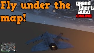 GTA online glitches - Fly a hydra under the world!