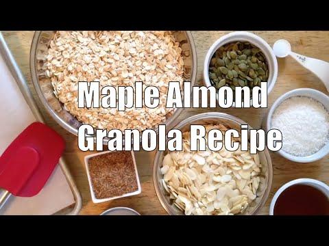 Easy Gluten-Free Maple Almond Granola Refined Sugar Free Vegan Recipe
