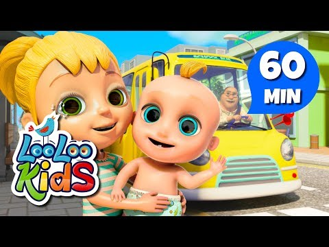 The Wheels On The Bus -  Great Songs for Children | LooLoo Kids