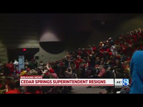 Cheers as Cedar Springs superintendent resigns