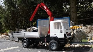 RC IVECO Trakker 4x4 Fassi Crane 1:14 Scale Test