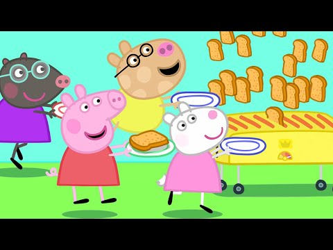 Peppa Pig Official Channel 🍞 Peppa Pig, Friends and the Toaster! - Видео онлайн