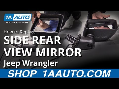 How to Replace Side Rear View Mirror 06-18 Jeep Wrangler