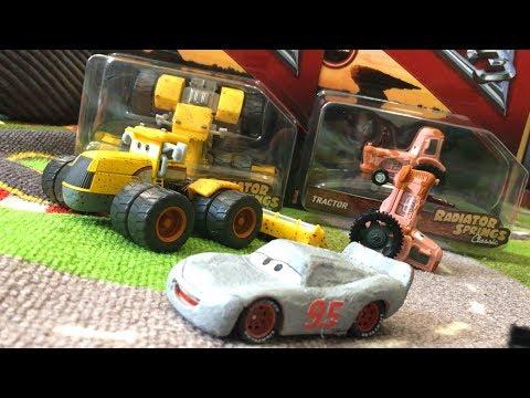 Disney Cars 3 Toys Hunt Primer Lightning McQueen SCOTT TILLER & TRACTOR Radiator Springs Classic