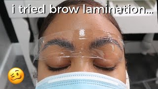 I Got My Brows Permed😭 | What is Brow Lamination and IS IT WORTH $100?