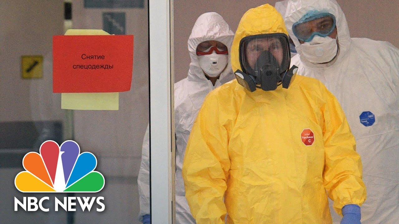 Putin Dons Hazmat Suit To Visit Hospital Treating Coronavirus Patients | NBC News