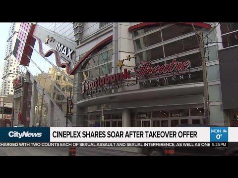 Business Report: Cineplex Shares Soar After Takeover Offer