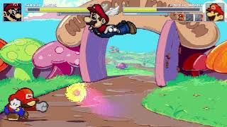 AN Mugen Request #1701: Super Mario VS Hotel Mario, Dr. Mario, Paper Mario, Poc-Mario