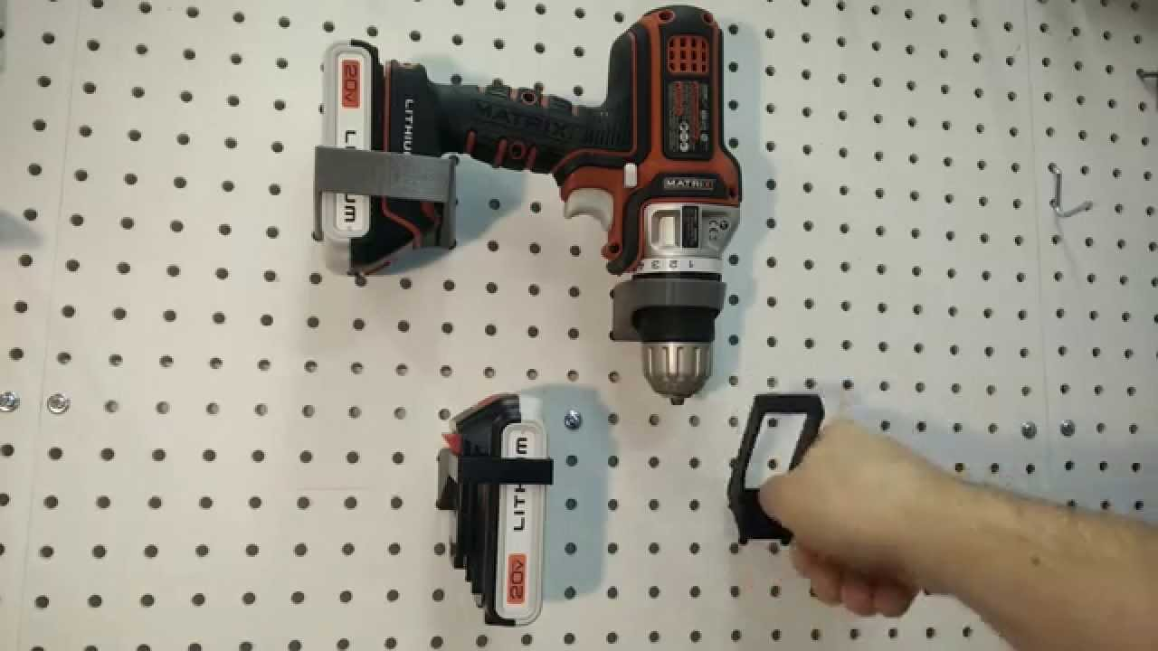 Drill Set Peg Board Mounting Kit 3d Printed Youtube