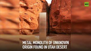 Mysterious monolith discovered in Utah desert