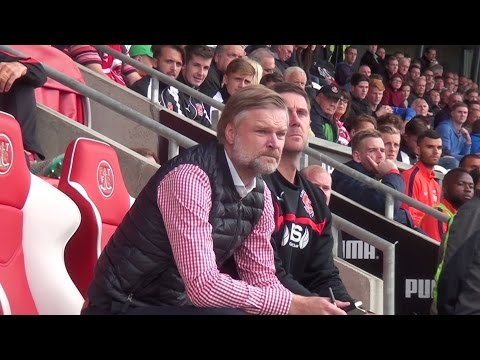 A DAY IN THE DUGOUT: Steven Pressley's first match as Fleetwood manager