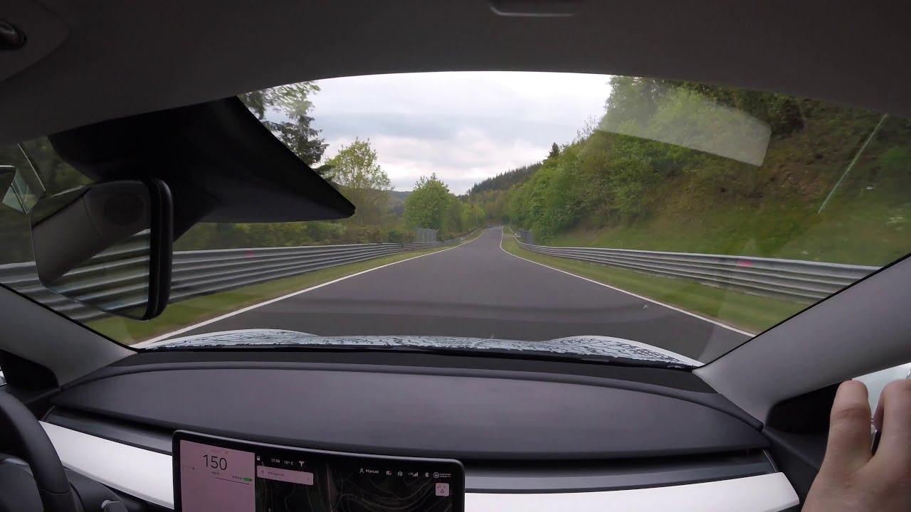 Tesla Model 3 Performance in Track Mode Nürburgring ...