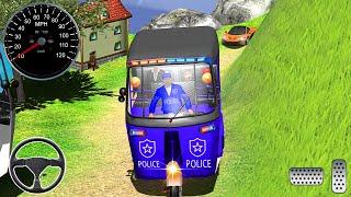 الشرطة توك توك السيارات عربة القيادة لعبة - محاكي القيادة - العاب سيارات - ألعاب أندرويد screenshot 3