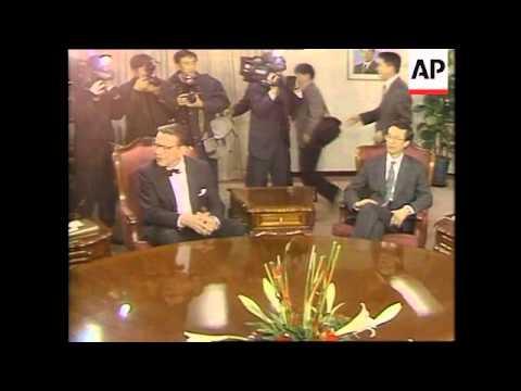S.Korea - US Senators Meet President Kim Young-sam