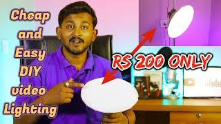 how to make light for youtube video (hindi) | cheap and easy DIY video lighting