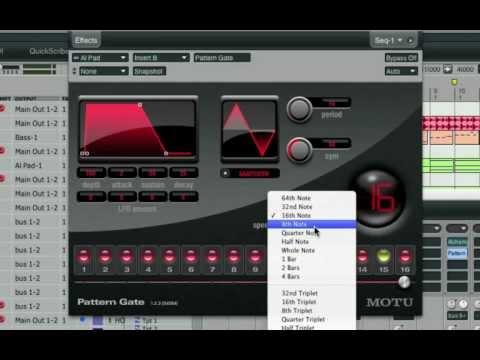 Rhythm-based effects in Digital Performer