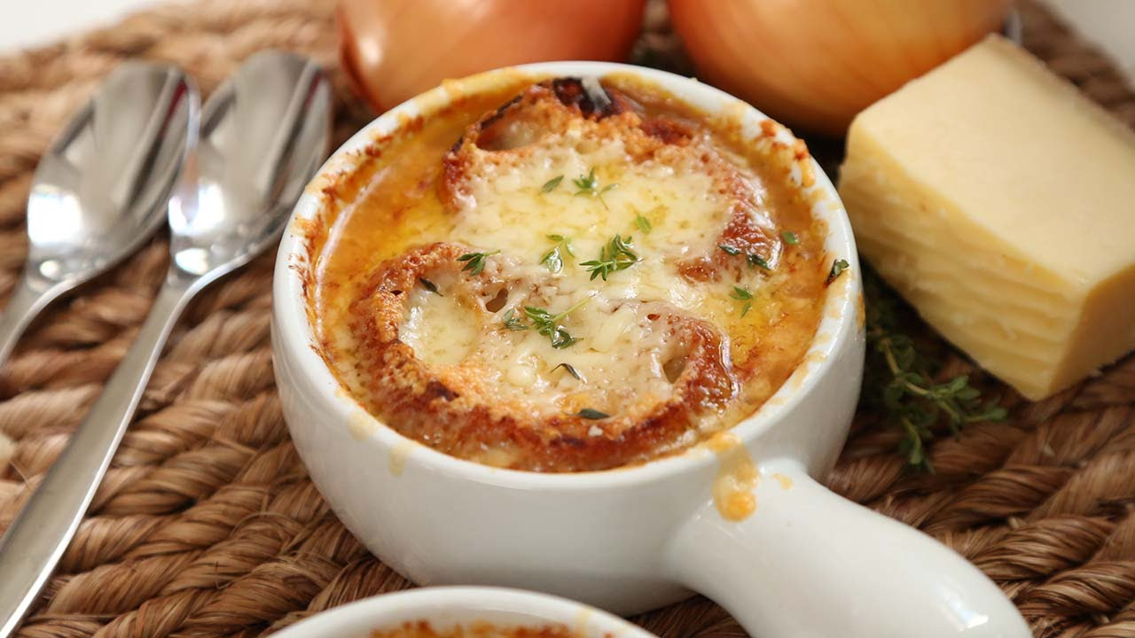French Onion Soup Homemade Youtube