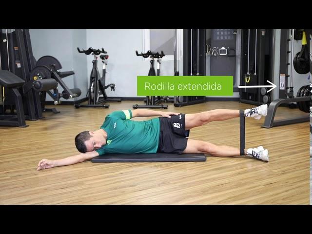 abducción de cadera lateral sostenido