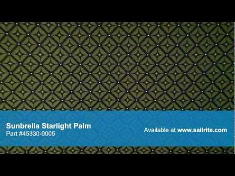 Video of Sunbrella Starlight Palm 45330-0005 - Sunbrella Furniture Fabric Starlight Palm