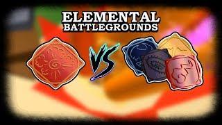Explosion Element VS Phoenix, Void, Lava & Fire Elements | Roblox Elemental Battleground