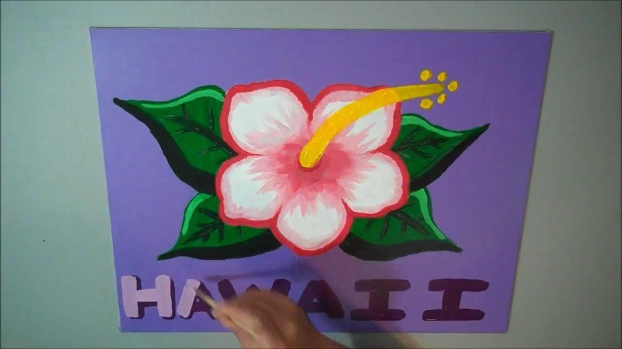 Hawaiian art projects acrylic hibiscus flower youtube hawaiian art projects acrylic hibiscus flower izmirmasajfo