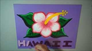 "Acrylic Speed Painting Time Lapse ""Hawaiian Flower"""