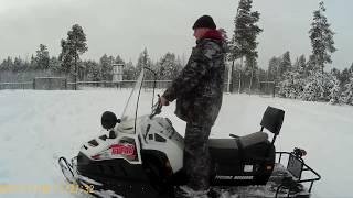 Снегоход  БУРАН 4тд 18.11.2017 Стоя на снегоходе