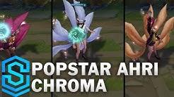 Popstar Ahri Chroma Skins