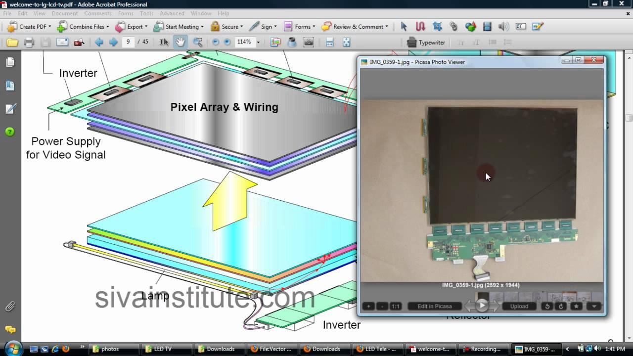 medium resolution of led tv repair chip level by sie guntur lecture 1