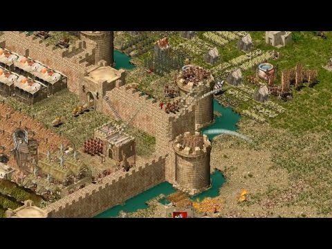 Stronghold Crusader Multiplayer - 1vs1 Tough Match  Deathmatch 1080p