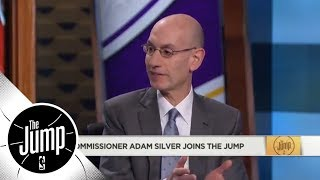 Adam Silver addresses Magic Johnson and Lakers' fine for tampering with Giannis | The Jump | ESPN