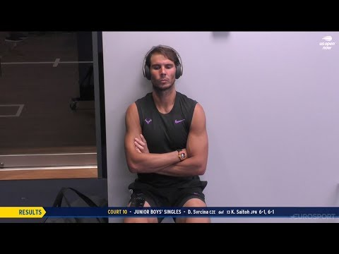 Rafael Nadal before R4 at USO'19
