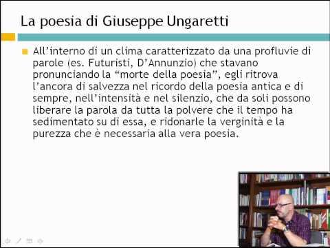 La poesia di Giuseppe Ungtti - Lezioni di letteratura del 900