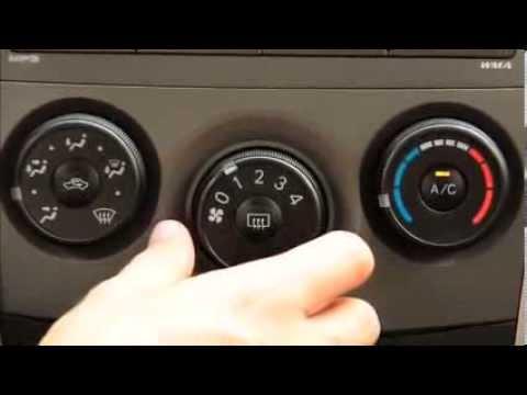 Significado de los botones del aire acondicionado del auto
