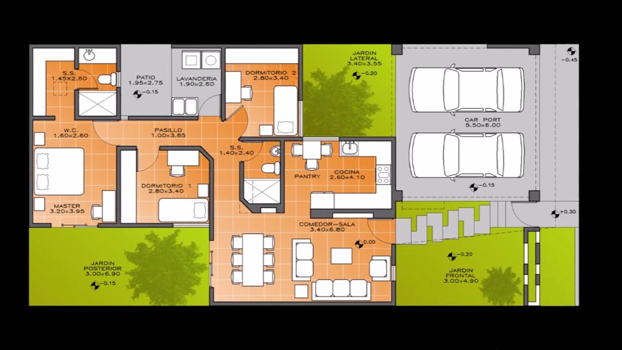 Diseño y Planos | Casa Moderna Contemporánea Minimalista Un nivel ...