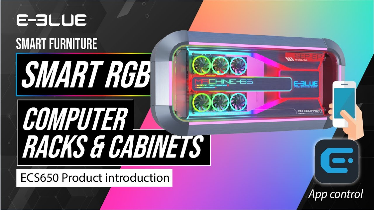 The world's first RGB wall mount PC case built by E-Blue