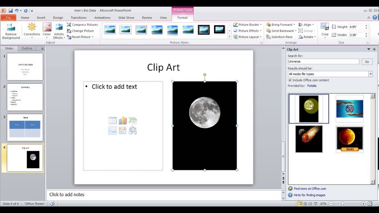 hindi microsoft powerpoint 2010 2013 pt1 add slides picture chart